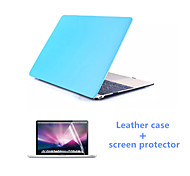 2016 Newest Leather Full Body MacBook Case with Screen Flim for  MacBook Pro 15.4 inch