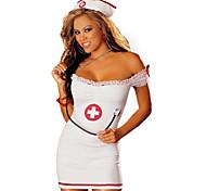 Woman's Off Should Sleeveless Sexy Nurse Costume Uniform