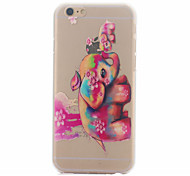 Color Baby Elephant Pattern Ultrathin Hard Back Cover Case for iPhone 6
