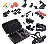 Kit 32-en-1 accesorios de la cámara de deportes para GoPro héroe 4/3 / 3 + / sj4000 / sj5000 / sjcam / Xiaoyi