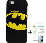 caso de la cubierta disney batman gratis con protector de pantalla para el iphone headfore 5s / 5g iphone5s / 5g