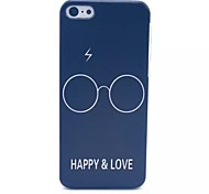 Glasses Pattern PC Material Phone Case for iPhone 5C