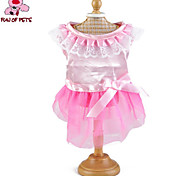 Cat / Dog Dress Pink Dog Clothes Summer Bowknot Wedding / Cosplay