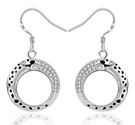 Women's Gorgeous Circle 925 Silver Plated Earrings