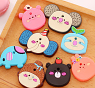 Cartoon Silica Gel Fridge Magnets(3 PCS Random Color)