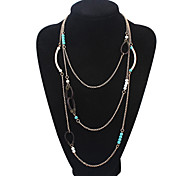 Indian Style Leather Buckle Fashion Multilayer Necklace