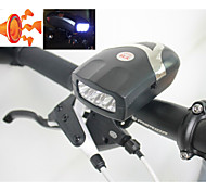3-LED Bicycle Front Lights with Bell