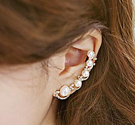 Ear Cuffs Pearl Imitation Pearl Cubic Zirconia Alloy Fashion Gold Jewelry 2pcs