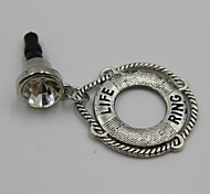 Fashion Alloy Silver Swim Ring Pendant Dust Plug General Type