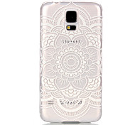 Hollow Flower Pattern PC Hard Case for Samsung Galaxy S5 Mini