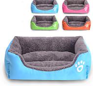 Cat / Dog Bed Pet Mats & Pads Waterproof / Cute Cotton / Fabric Green / Blue / Orange / Rose