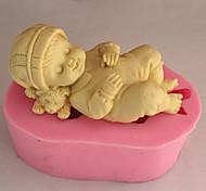 выпечке Mold Спящий ребенок Для торта Для Cookie Для Pie силиконовый Экологичность Высокое качество 3D
