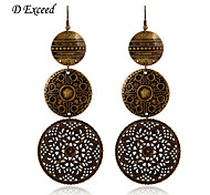 D Exceed  Women's  Anti Gold Vintage Hollow Out Big Errings Jewelry Free Shipping