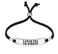European Style Fashion Rope Letter i love you to pieces Bracelet