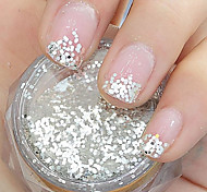 1MM Hexagonal Glitter Tablets Nail Art Decorations