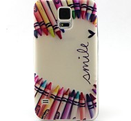 Pencil Love Pattern Soft Case for Sumsang Galaxy S5Mini/S5/S4/S3/S3mini/S4mini/S6/S6edge