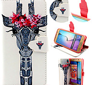 Giraffe Pattern with Card Bag Full Body Case for Samsung Galaxy S6/ S6 Edge