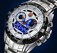 Men's Multifunctional Two Time Zones Luxury 50M Water Resistant Sports Wrist Watches(Assorted Colors)