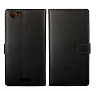 Genuine Leather Wallet Style Case for Wiko Ridge Fab 4G