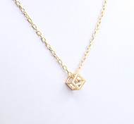 Women's Pendant Necklaces Crystal Rhinestone Simulated Diamond 18K gold Fashion Gold Silver Jewelry Special Occasion Birthday Gift