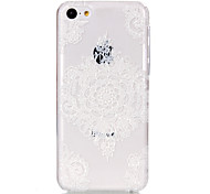 holle bloempatroon ultradunne harde Cover Case voor iPhone 5c