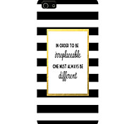 Black and White Stripes Pattern Phone Back Case Cover for iPhone5C