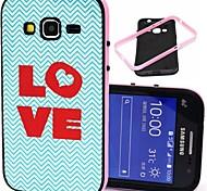 2-in-1 Liebe Herz-Muster-TPU rückseitige Abdeckung mit pc Stoßstange stoßfest Hülle für Samsung-Kern prime G360 / Kern 2 g355h