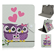 Care Owl Pattern High Quality PU Leather with Stand Case for 10 Inch Universal Tablet