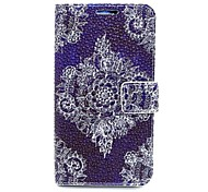 Lace Flower Leather Case with Stand for Samsung Galaxy S6/S5/S4/S3/S3 mini/S4 mini/S5 mini/ S6 edge