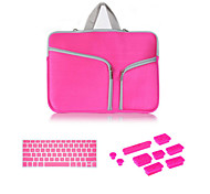 "Top Selling Zipper Sleeve bag with Keyboard Cover and Silicone Dust Plug for Macbook Pro 13.3""  (Assorted Colors)"