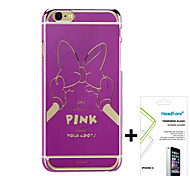"""Disney Minnie Mirror Effect Cover Case for Iphone6 4.7"""" Free with Headfore Screen Protector for Iphone6 4.7""""-Pink"""