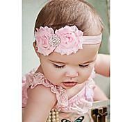 Shabby Headband Shabby Chic Headband Baby Headband Rhinestone Newborn Headband Flower Headband Baby Girl Headband
