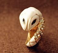 Elegant Small White Snake Ring