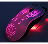 i-like crotalus 2.4ghz 2000dpi 6 boutons led bleu-noir jeu de la souris sans fil professionnel