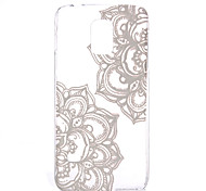 Diagonal Flowers Pattern Transparent PC Material Phone Case for Samsung GALAXY S6 /S6 edge/S5/S3Mini/S4Mini/S5Mini