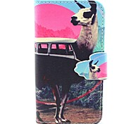 Alpaca Pattern PU Material  Case for iPhone 4/4S