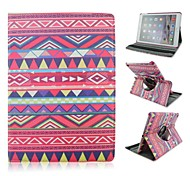 "9.7""Inch National wind Pattern 360 Degree Rotation Case with Stand for iPad Air 2 iPad 6"