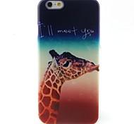 Giraffe Pattern TPU Material Phone Case for iPhone 6