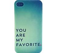 sempre amar padrão caso de telefone PC material para iPhone 4 / 4S