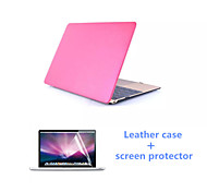 2016 Newest Leather Full Body MacBook Case with Screen Flim for  MacBook 12 inch