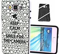 mantenha a calma e sorrir para a vinda padrão de plástico / TPU 2 em 1 projeto de volta caso capa para Samsung Galaxy a5