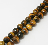 Beadia 39Cm/Str (Approx 65Pcs) 6mm Round Natural Tiger Eye Stone Beads DIY Accessories