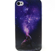 Howl Pattern TPU Phone Case for iPhone 4/4S