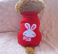 Holdhoney Red And White Rabbit Acrylic Sweater For Pets Dogs (Assorted Sizes) #LT15050184