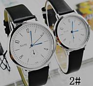 Couple's Korean Female Couple Simple Fashion Disc Quartz Watches Belts (Assorted Colors)