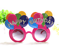 PC Punny Colorful Happy Birthday Style Geek& Chic Party Glasses