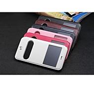 Vista ventana ventas al por mayor móviles pu cajas del teléfono titulares para iphone 6 plus 5.5 colores surtidos