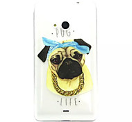 For Nokia Case Transparent / Embossed Case Back Cover Case Dog Soft TPU Nokia Nokia Lumia 535 / Nokia Lumia 435