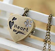 Women's Heart-Shaped Necklace Watch