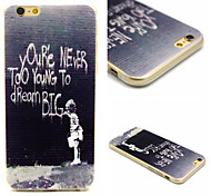 Qure Never Too Young ToDream Big Pattern TPU Material Phone Case For iPhone 6/6S